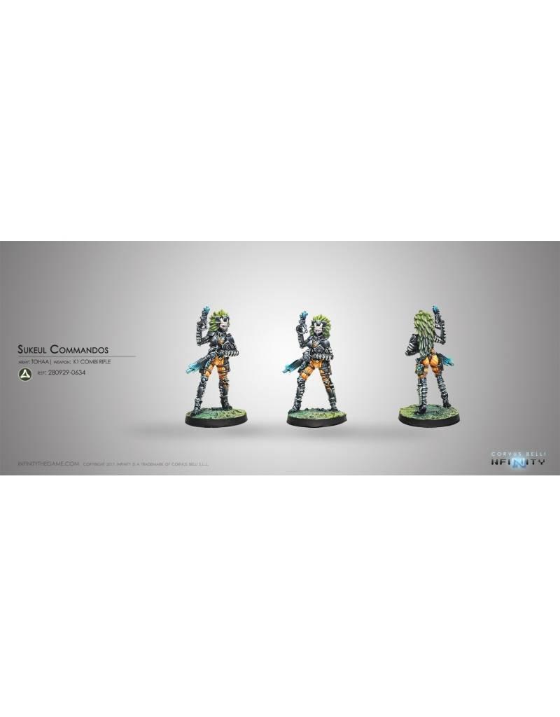 Corvus Belli Tohaa Sukeul Commandos (K1 Combi Rifle) Blister Pack