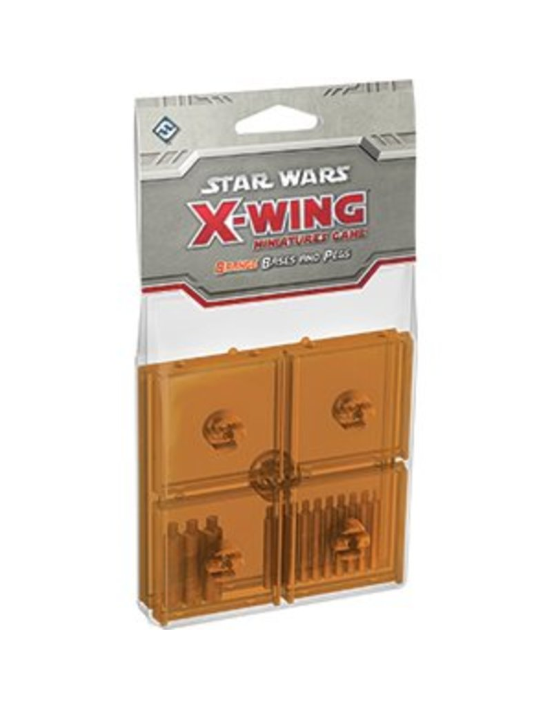 Fantasy Flight Games Star Wars X-Wing: Orange Bases and Pegs Accessory Pack