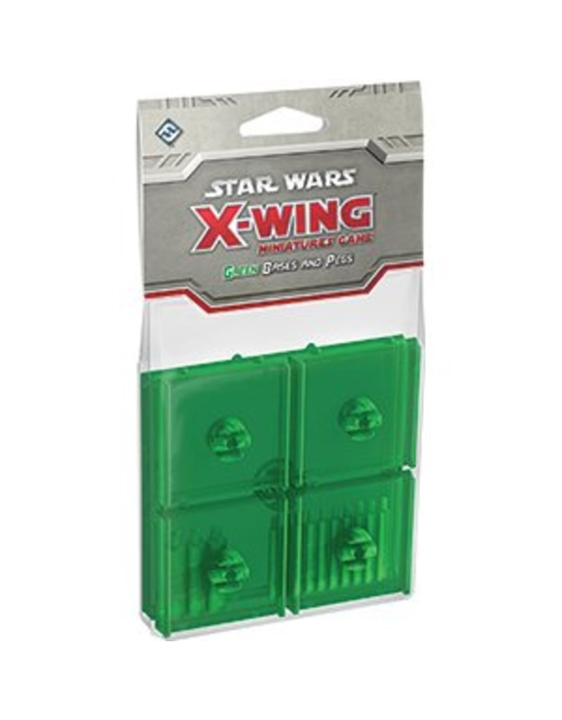 Fantasy Flight Games Star Wars X-Wing: Green Bases and Pegs Accessory Pack