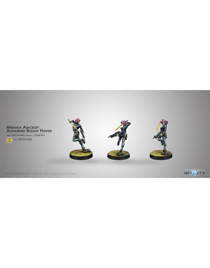 Corvus Belli Mercenaries Miranda Ashcroft - Authorised Bounty Hunter Blister Pack