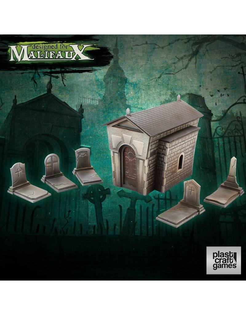 Plastcraft Graveyard Set Pre-cut
