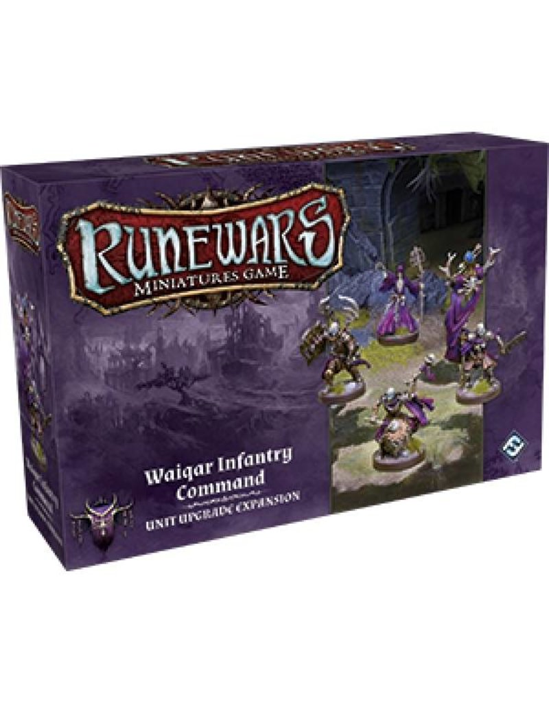 Fantasy Flight Games Waiqar Infantry Command Expansion Pack: Runewars Miniatures Game