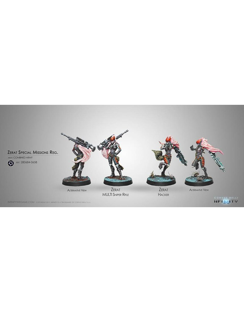 Corvus Belli Combined Army Zerat Special Missions Reg. (MULTI Sniper/Hacker) Blister Pack
