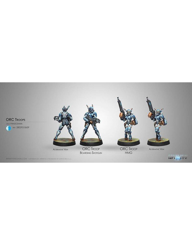 Corvus Belli Panoceania Orc Troops (HMG/Boarding Shotgun)  Blister Pack
