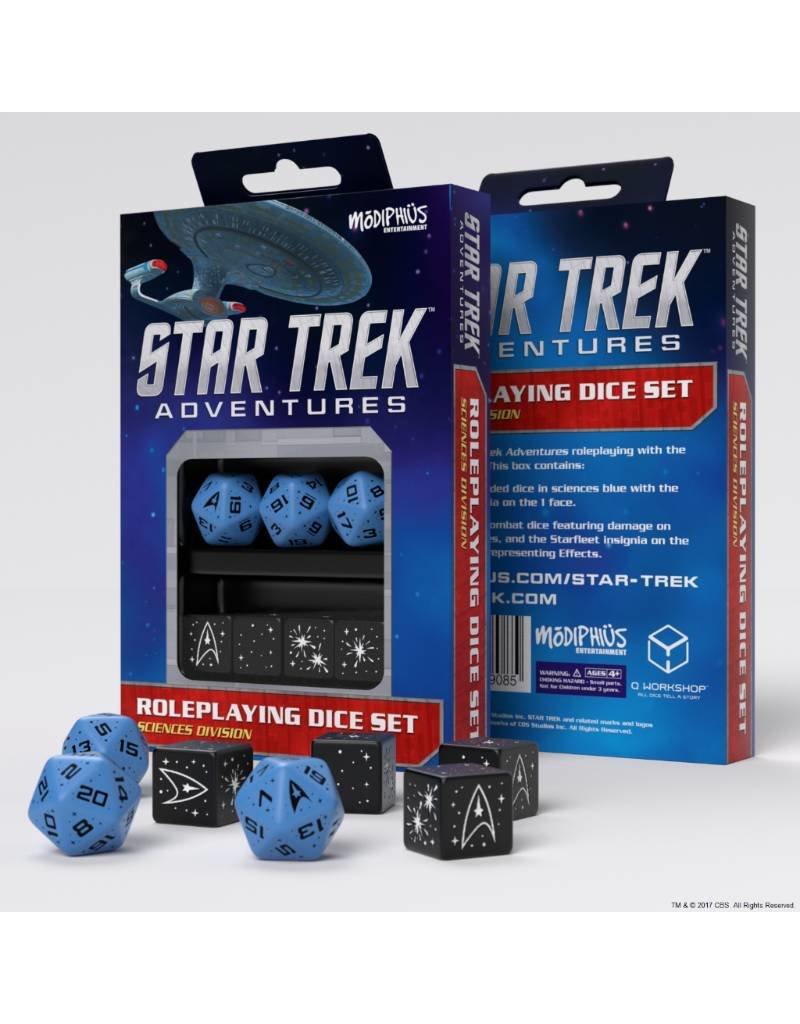 Modiphius Entertainment Star Trek Adventures Accessories: Sciences Blue Custom Dice