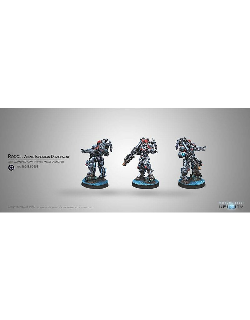 Corvus Belli Combined Army Rodok, Armed Imposition Detachment (Missile Launcher) Blister Pack