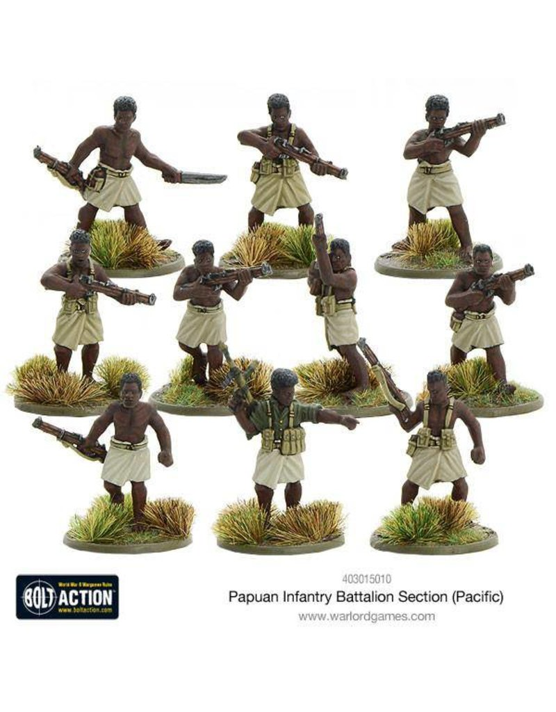 Warlord Games Allied Papuan Infantry Battalion Section