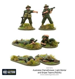 Warlord Games Australian Flamethrower, Light mortar and Sniper teams