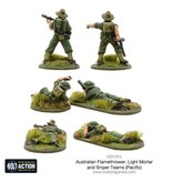 Warlord Games Allied Australian Flamethrower, Light mortar and Sniper teams