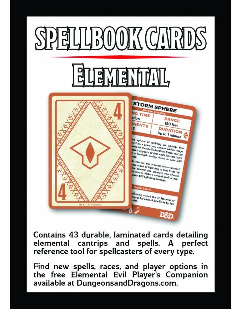 D&D Elemental Evil Spell Deck