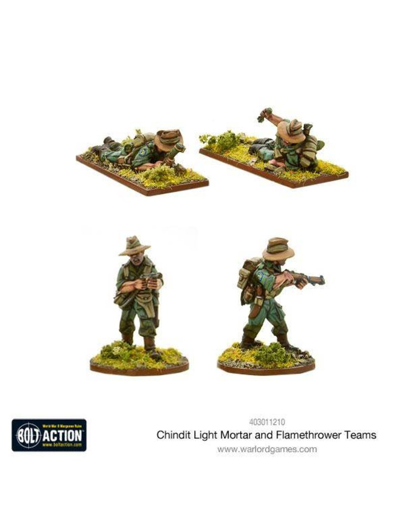 Warlord Games British Chindit Flamethrower & Light mortar teams
