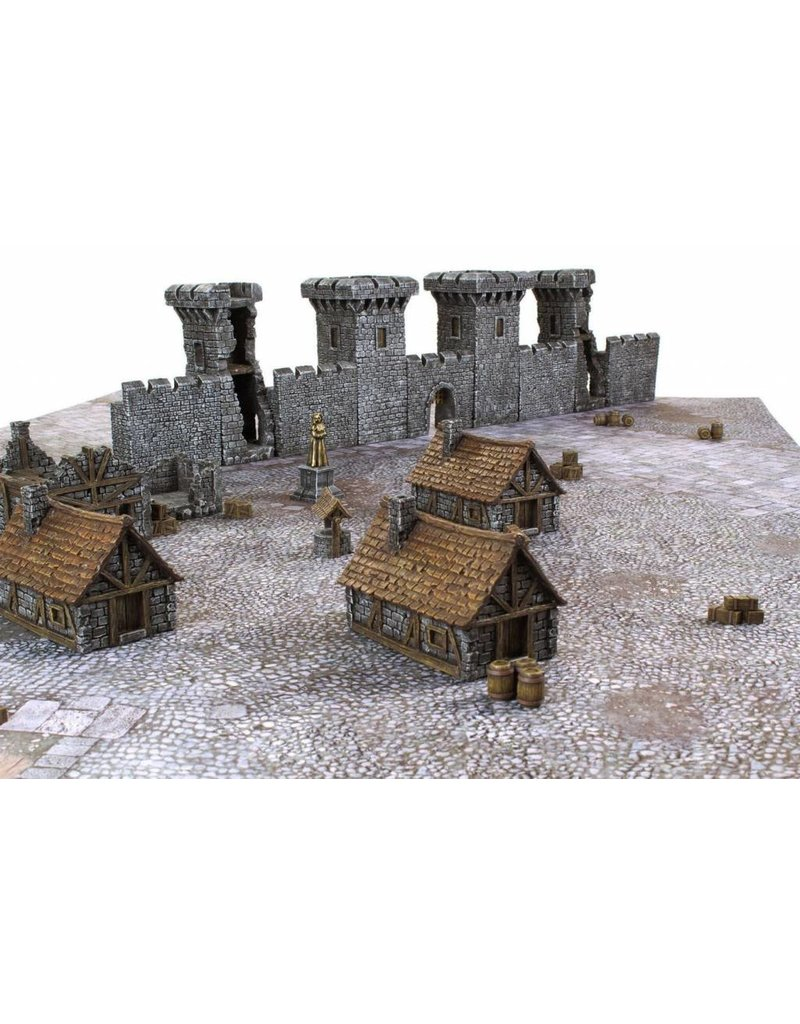 Game Mat Medieval Houses Set