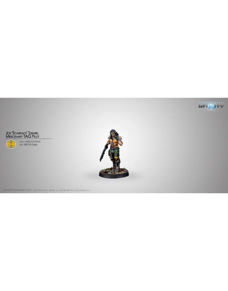"""Corvus Belli Mercenaries Joe """"Scarface"""" Turner, Mercenary Tag Pilot Blister Pack"""
