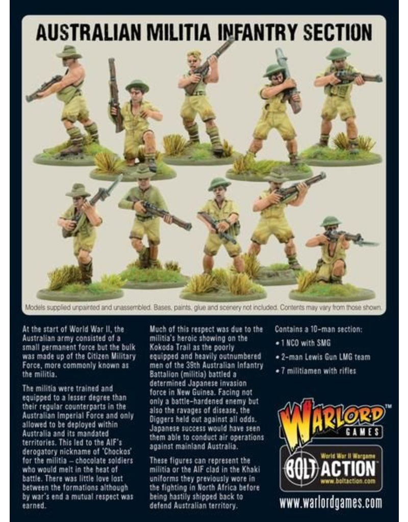 Warlord Games Allied Australian Militia Infantry Section