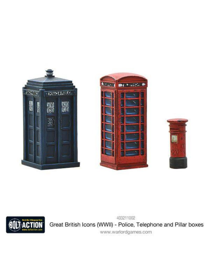 Warlord Games Great British Icons Police, Telephone and Pillar boxes