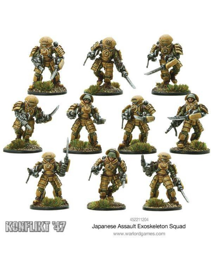 Warlord Games Imperial Japanese Assault Exo Skeleton Squad