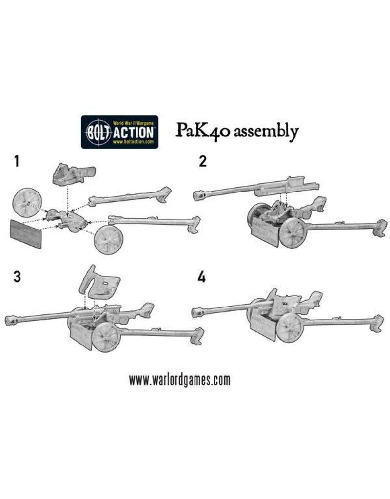 Warlord Games German Fallschirmjager 75mm PaK 40 Anti-tank Gun