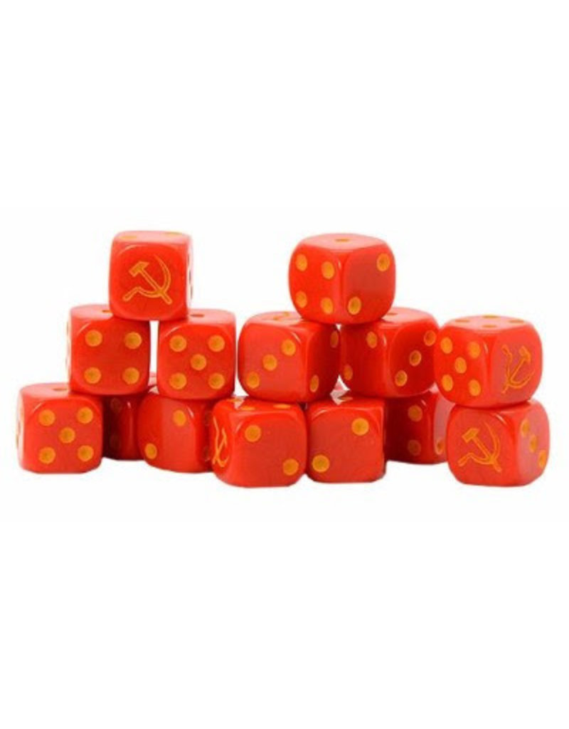Warlord Games Soviet Union D6 Dice (16)