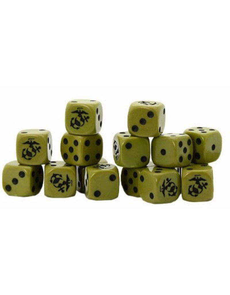 Warlord Games US Marine Corps D6 Dice (16)