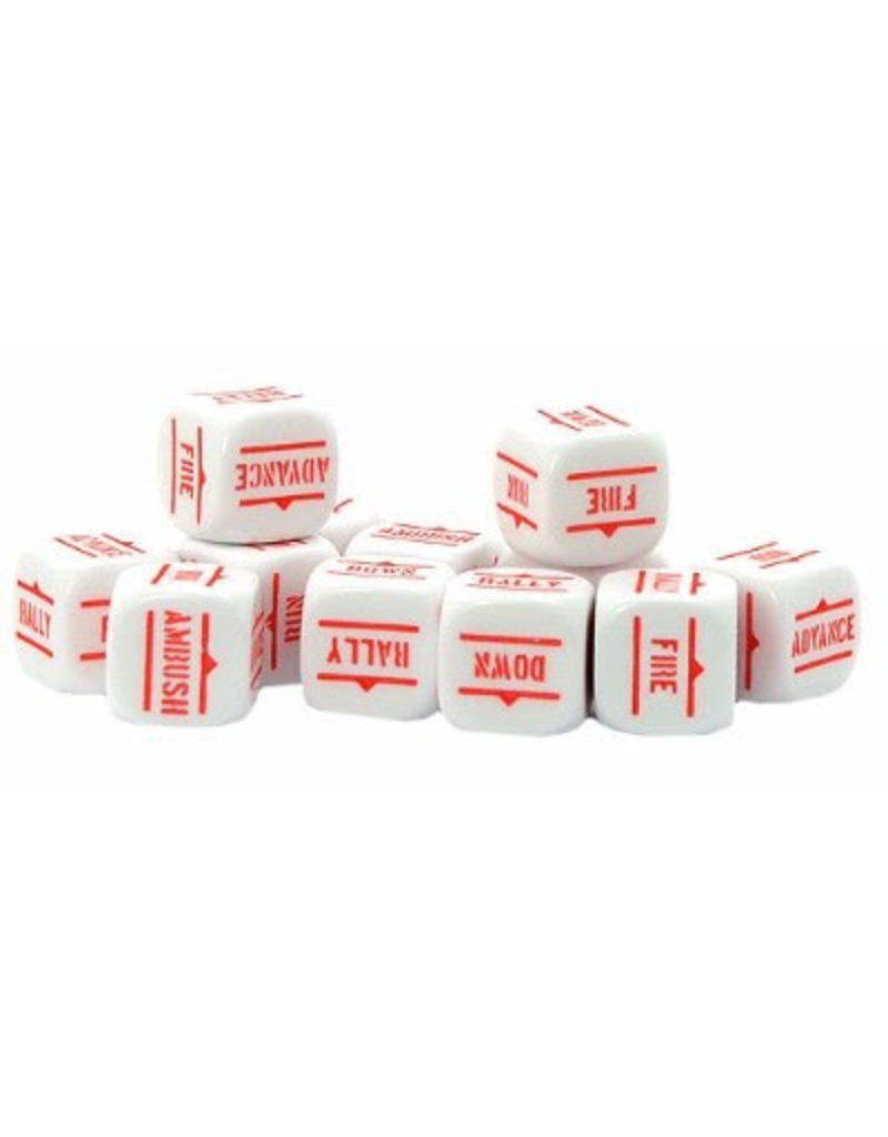 Warlord Games Bolt Action Orders Dice - White (12)