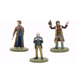 Warlord Games The First, Fourth & Tenth Doctors Resin Models