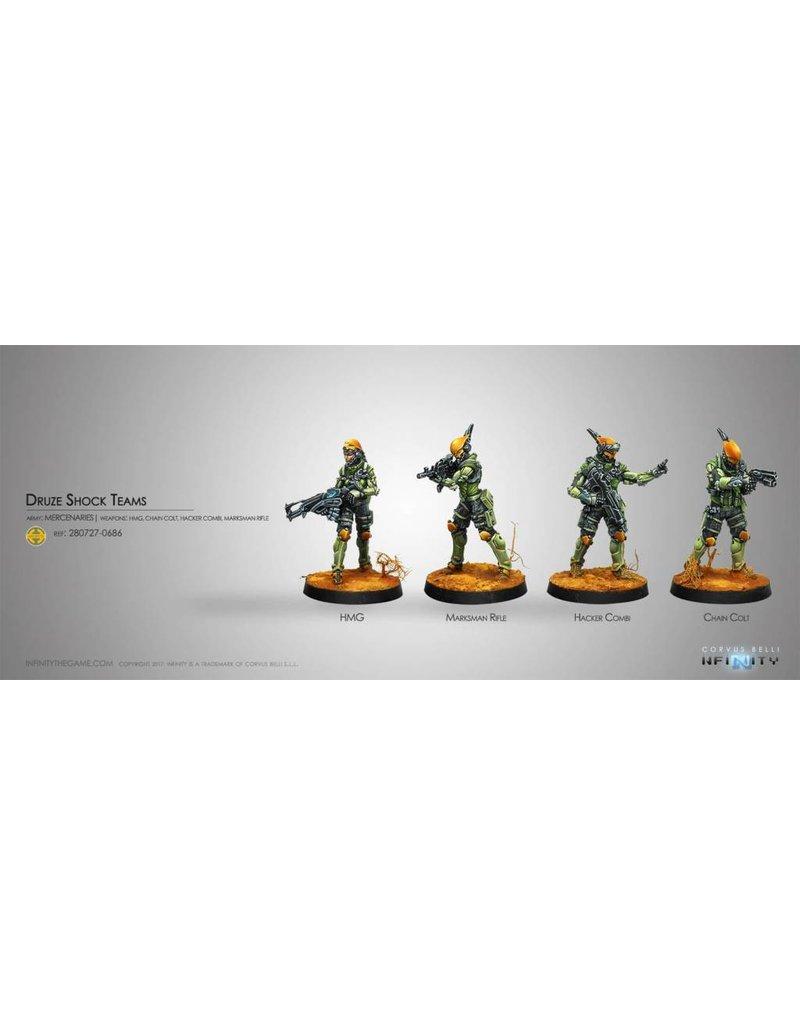 Corvus Belli Mercenaries Druze Shock Teams Box Set