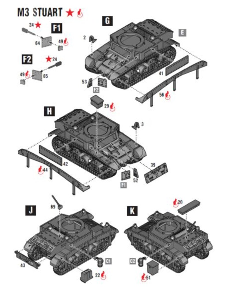 Warlord Games US Army M3 Stuart Light Tank
