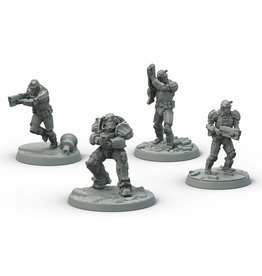 Modiphius Entertainment Wasteland Warfare - Brotherhood of Steel Frontline Knights