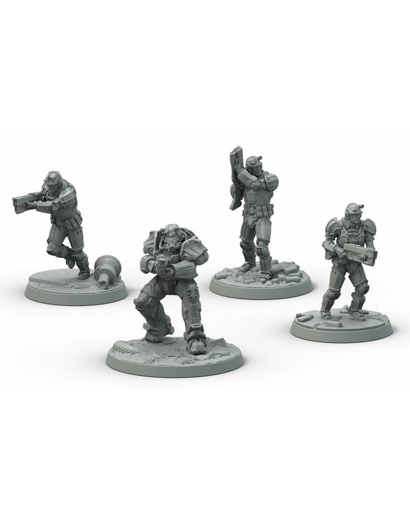 Modiphius Entertainment Fallout: Wasteland Warfare - Brotherhood of Steel Frontline Knights