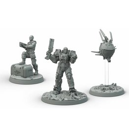 Modiphius Entertainment Wasteland Warfare - Brotherhood of Steel Knight-Captain Cade and Paladin Danse