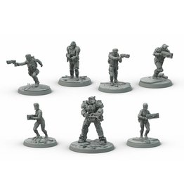 Modiphius Entertainment Wasteland Warfare - Brotherhood of Steel Core Box