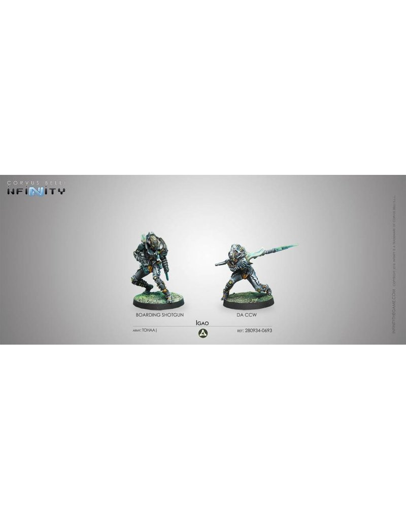 Corvus Belli Tohaa Igao Unit Boarding Shotgun / DA CC Weapon Blister Pack