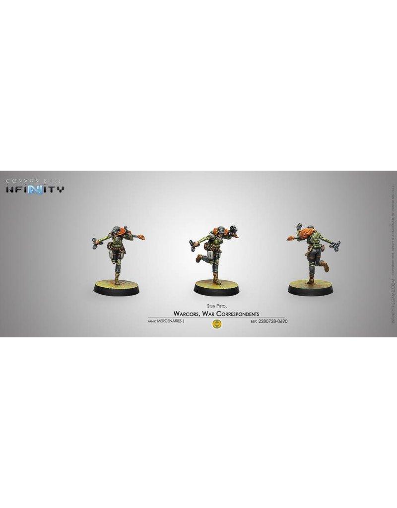Corvus Belli Mercenaries Warcors, War Correspondents (Stun Pistol) Blister Pack
