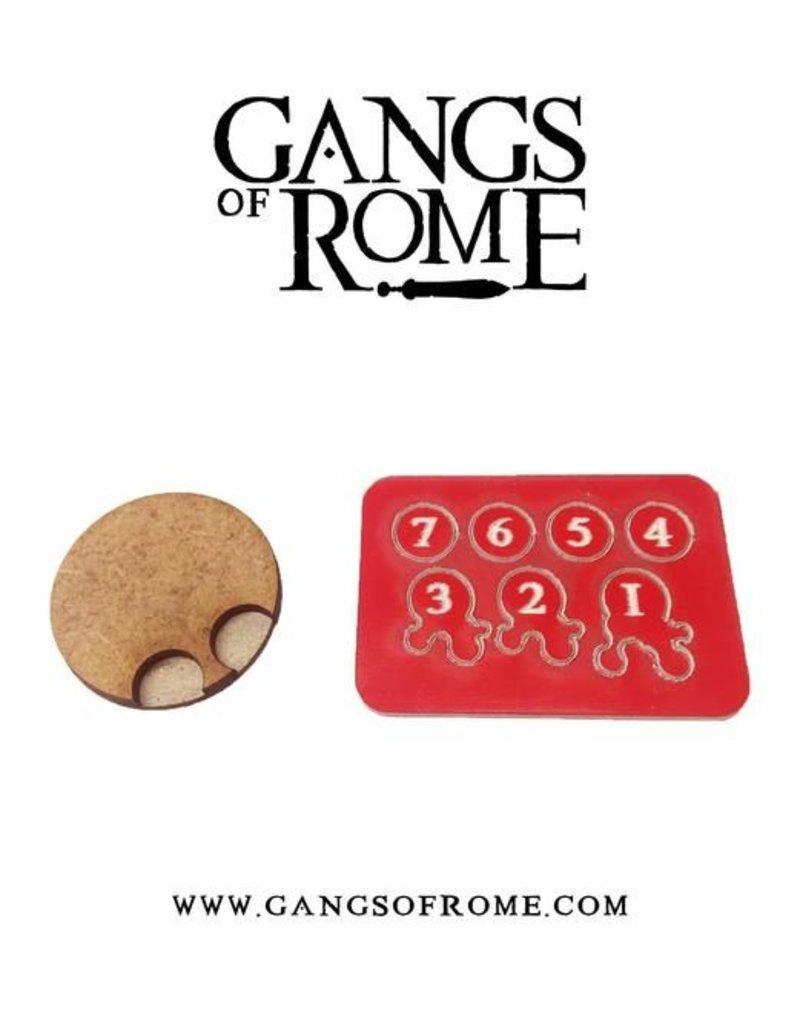 War Banner Gangs Of Rome Jigsaw Base & 7 Flesh Markers