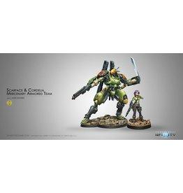 Corvus Belli Scarface & Cordelia. Armored Mercenary Team
