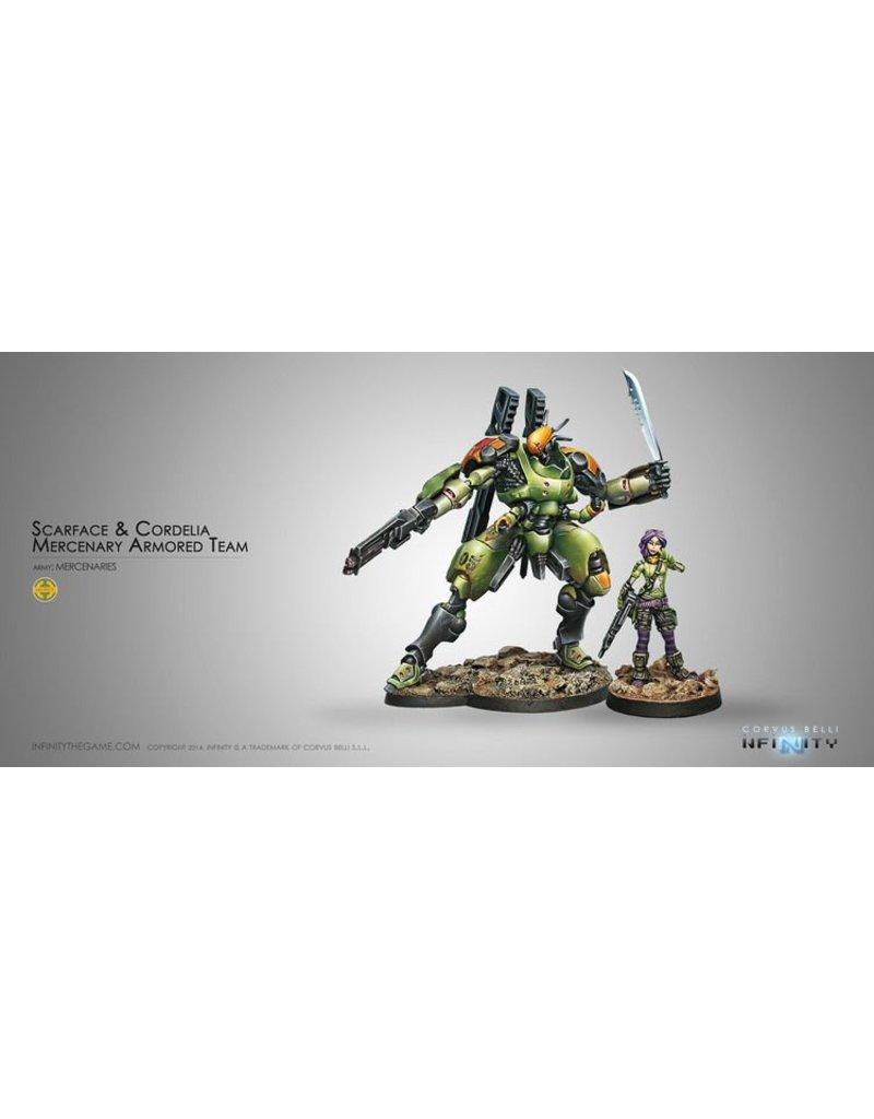 Corvus Belli Mercenaries Scarface & Cordelia. Armored Mercenary Team Box Set