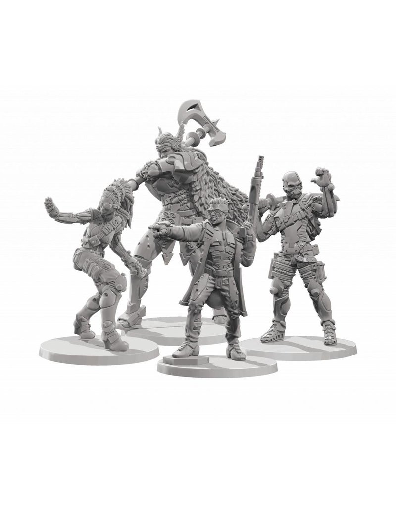 Corvus Belli Aristeia! - Soldiers of Fortune (Hannibal, Valkerie, Laxmee, Senor Massacre) Box Set