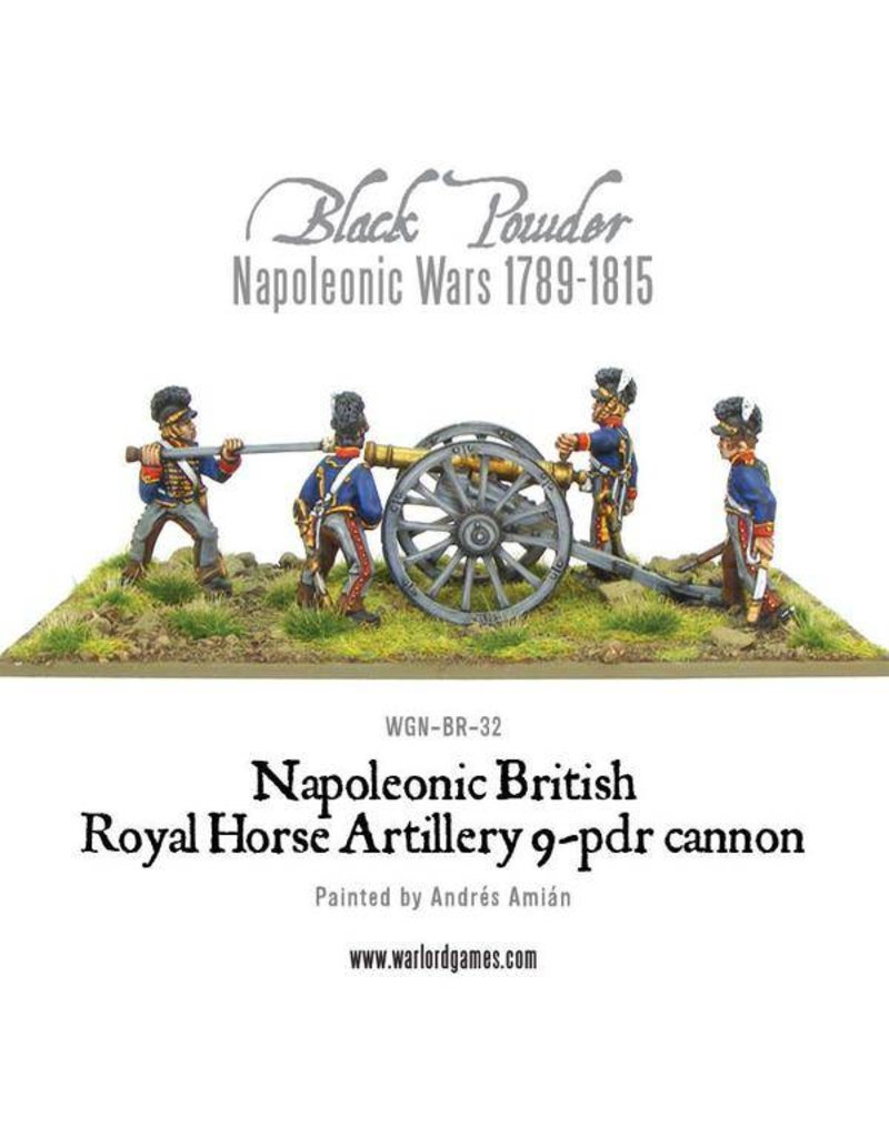 Warlord Games Napoleonic Wars 1789-1815 British Horse Artillery 9-Pdr Cannon Pack