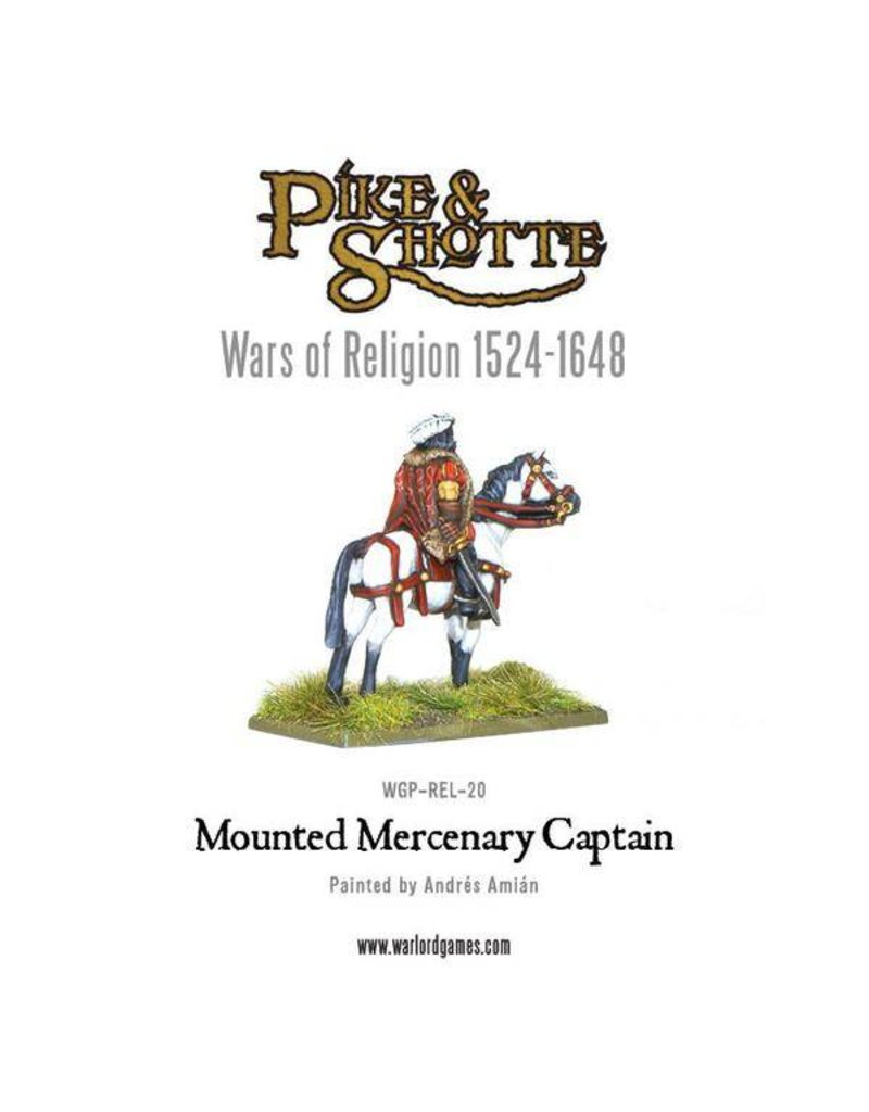 Warlord Games Wars Of Religion 1524-1648 Mounted Mercenary Captain Pack