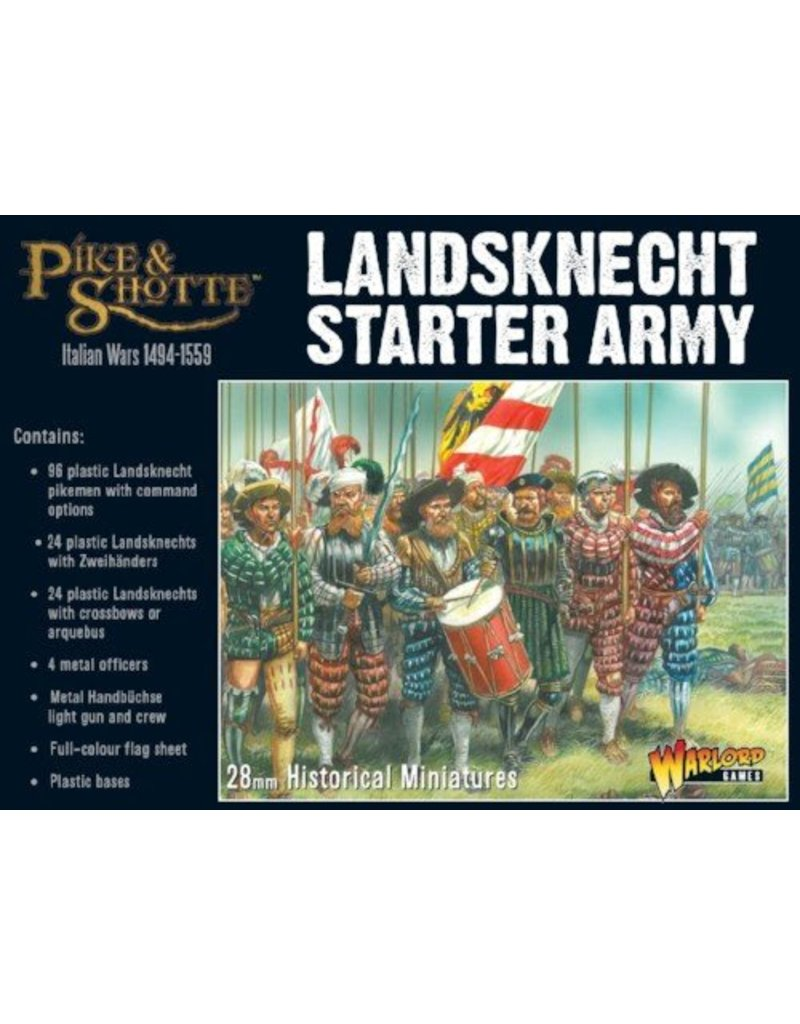 Warlord Games Italian Wars 1494-1559 Landsknecht Starter Army Box Set