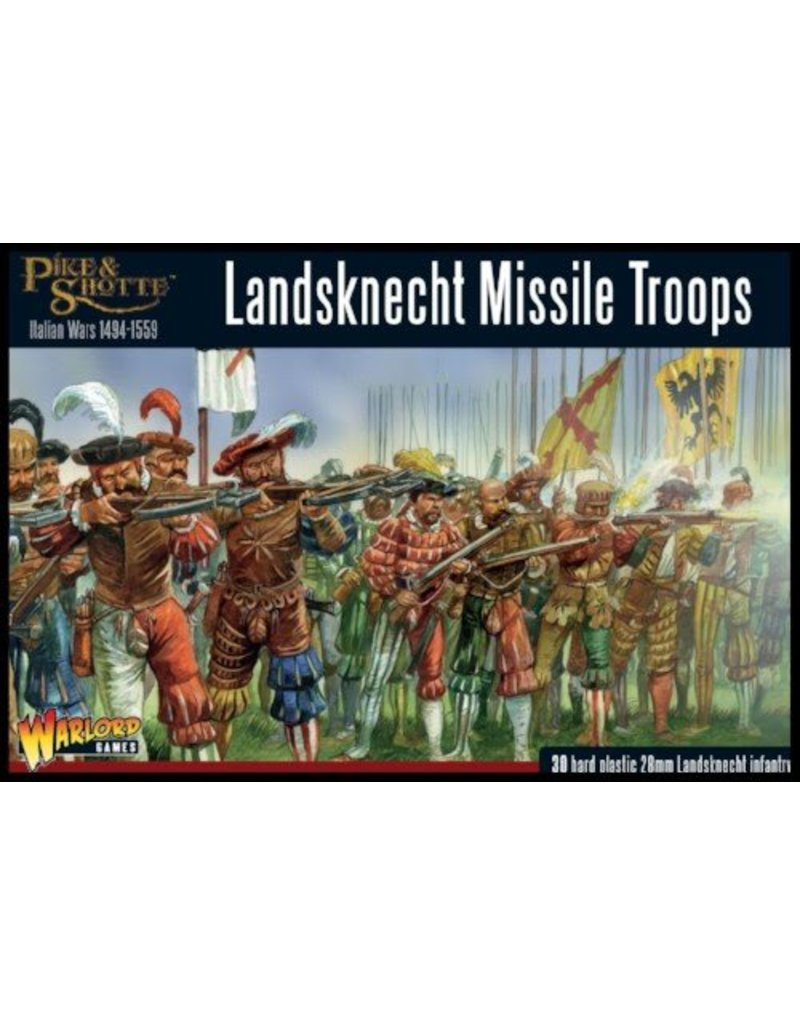 Warlord Games Italian Wars 1494-1559 Landsknecht Missile Troops Box Set