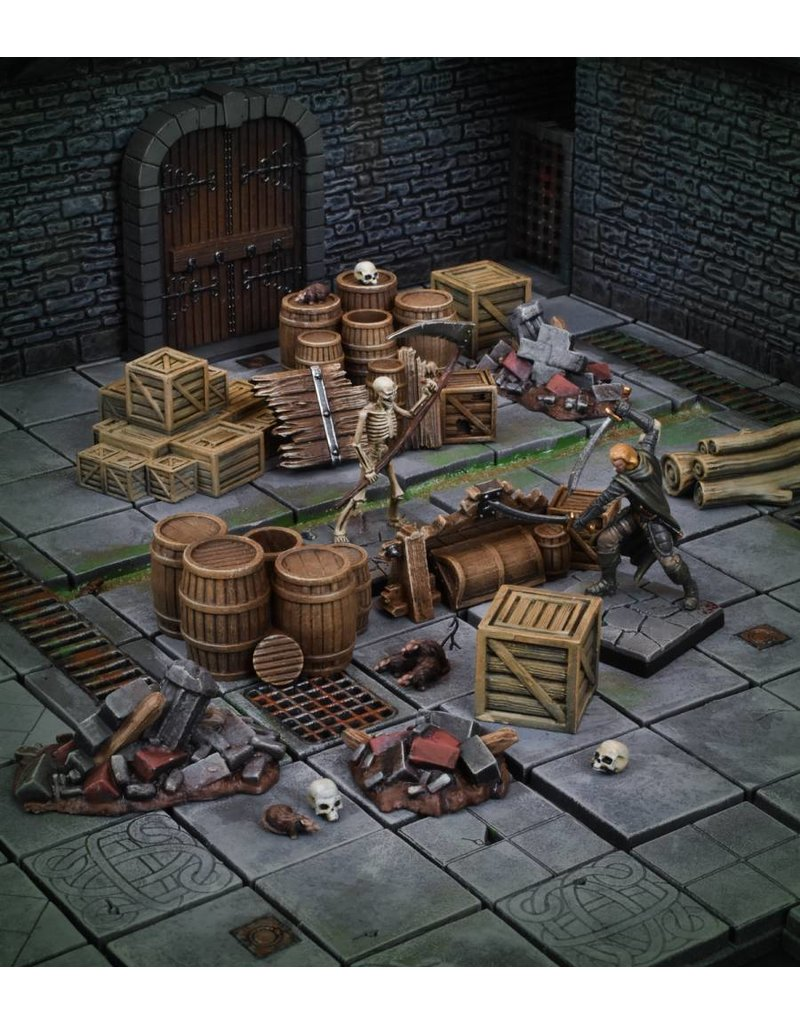 Mantic Games Terrain Crate: Dungeon Debris Plastic Scenery Box Set