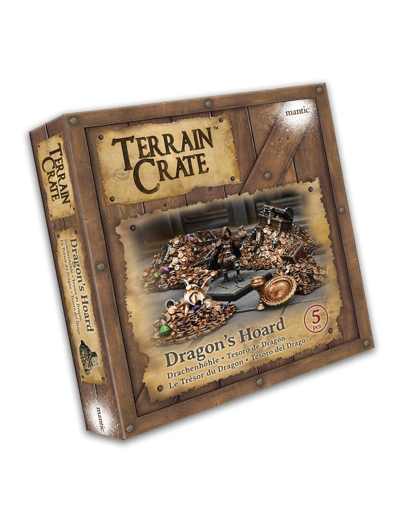 Mantic Games Terrain Crate: Dragon's Hoard Plastic Scenery Box Set