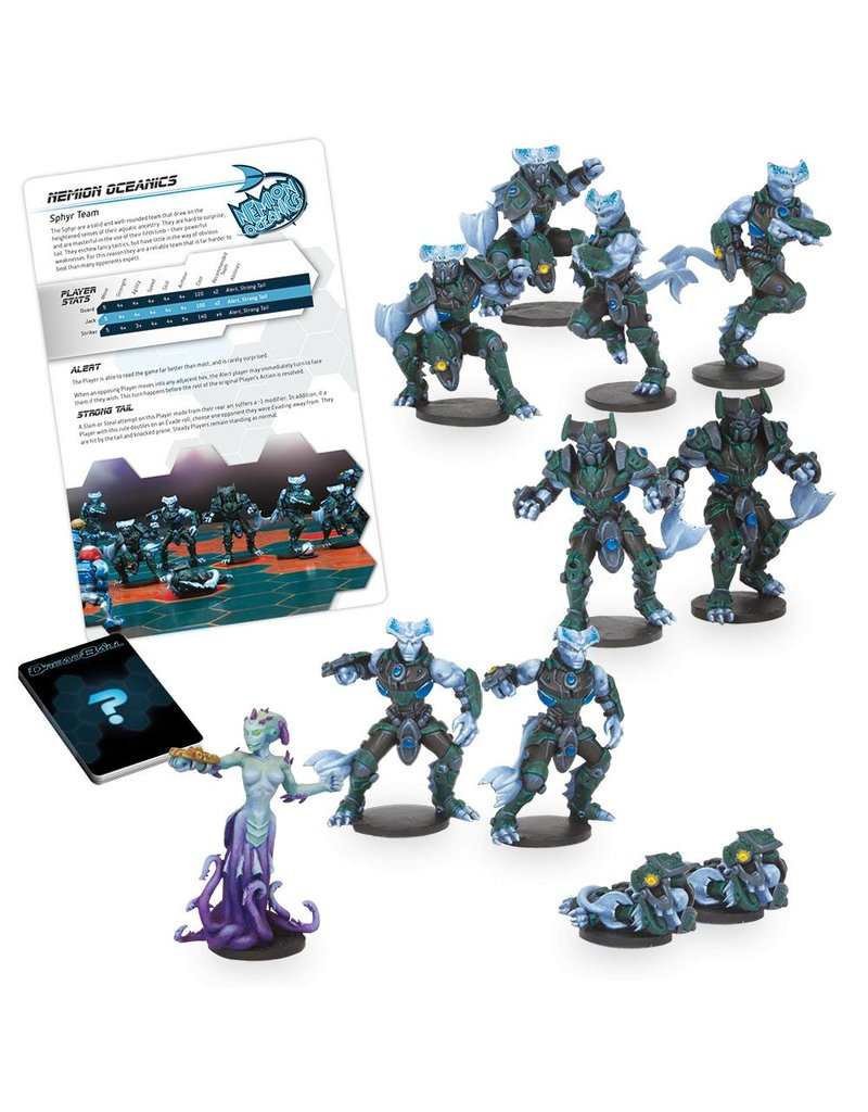 Mantic Games Sphyr Team: Nemion Oceanics Dreadball 2nd Edition Plastic Boxed Set