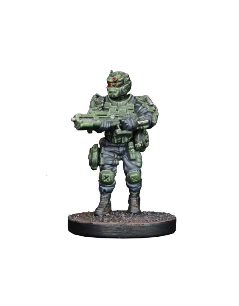 Mantic Games Warpath / Deadzone: GCPS Ranger Sniper/ Tank Hunter Team Box Set
