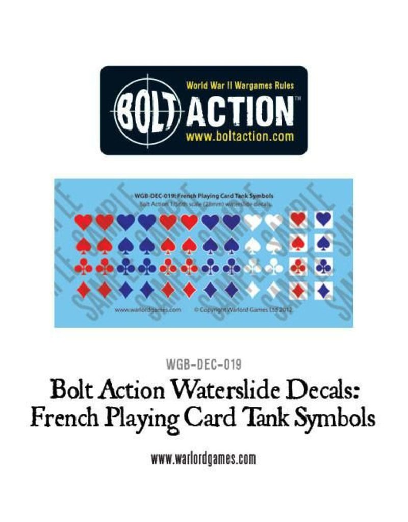 Warlord Games French Vehicle Decals