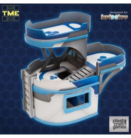 Plast-Craft TME- 3 Platform Curved Building