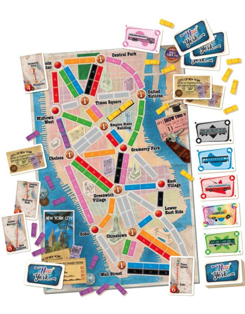Days of Wonder Ticket To Ride: New York Board Game