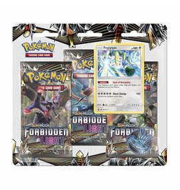 Pokemon Forbidden Light Blister 3 Pack Display
