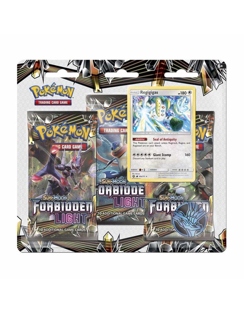 Pokemon Pokemon Sun & Moon TCG: Sun & Moon Forbidden Light Blister 3 Pack Display
